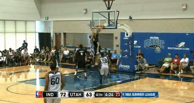 Rudy Gobert Posterizes the Pacers